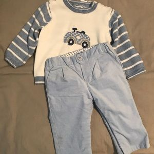 NEW Mayoral sweater and pants blue car 2-4m